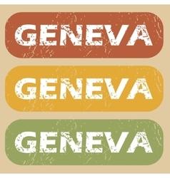 Vintage Geneva stamp set vector