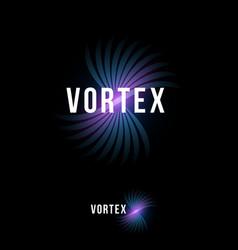 vortex logo blue pink emblem letters dynamic swirl vector image