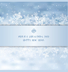 winter white merry christmas greetings card made vector image