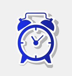 alarm clock sign new year bluish icon vector image