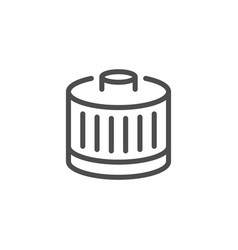 car filter line icon vector image