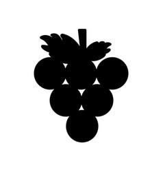 contour delicious grape fruit icon vector image vector image