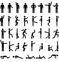 people in different poses vector image vector image