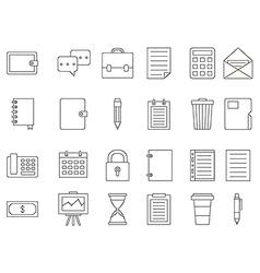 Accounting black icons set vector image vector image