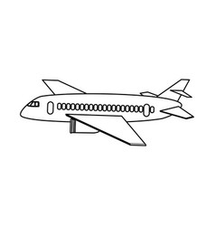 commercial airplane sideview icon image vector image vector image