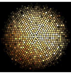 gold disco lights background vector image vector image
