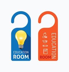Paper door handle lock hangers concept education vector