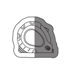 sticker monochrome line contour of tape measure vector image