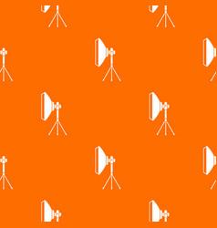 studio lighting equipment pattern seamless vector image vector image