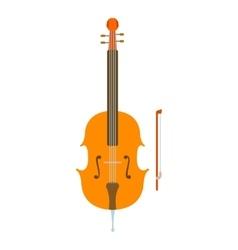 Violin icon flat style vector image vector image