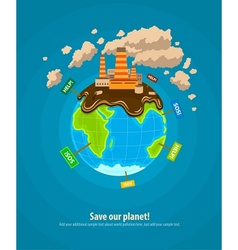 Ecology concept world planet vector