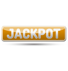 jackpot - glossy banner with shadow vector image