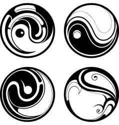 Tribal icons vector image vector image