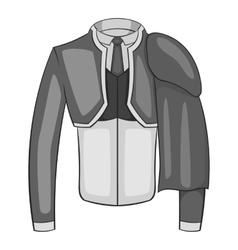 Costume of toreador icon gray monochrome style vector