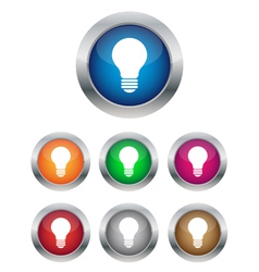 Lamp buttons vector image vector image
