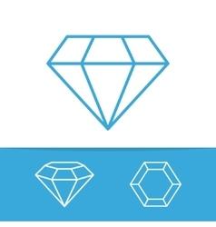set of diamond design elements vector image