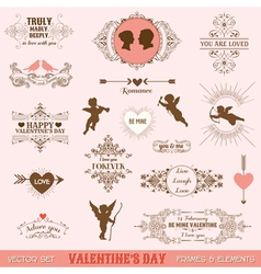 Set Vintage Frames and Banners vector image vector image