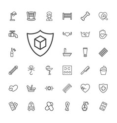 33 care icons vector