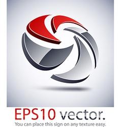 3D modern mixing logo icon vector