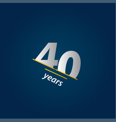 40 years anniversary celebration blue and white vector