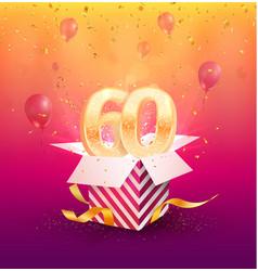 60th years anniversary design element vector