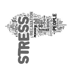 A healthy approach to stress text word cloud vector