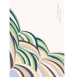 abstract art background with japanese pattern vector image