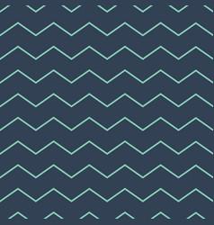 abstract zig zag lines seamless pattern dark green vector image