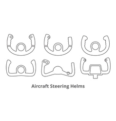 Aircraft Control Wheels Icons Set vector image
