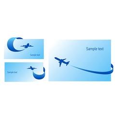 airplane flight tickets air fly cloud sky blue ele vector image