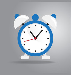 alarm clock icon flat style on gray background vector image