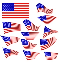 American Flags Icons vector image