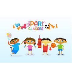 Art classes for kids logo creative artistic school vector