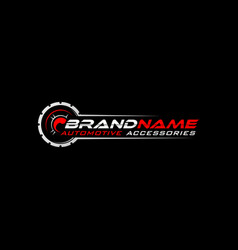 Audio logo template vector