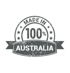 australia stamp design vector image