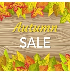 Autumn Sale Concept in Flat Design vector image