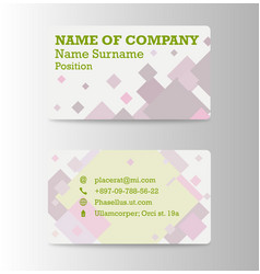 Business card background collection vector
