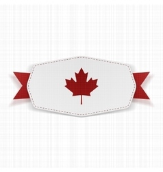 Canada flag symbol realistic label vector