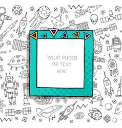 Cartoon template frame vector