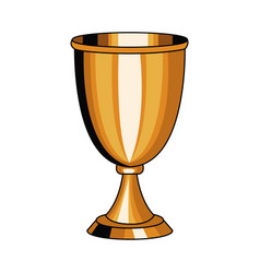 Chalice cup symbol pop art vector