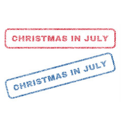 Christmas in july textile stamps vector