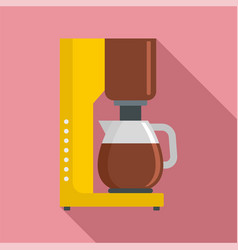 coffee maker icon flat style vector image