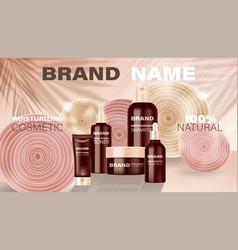 Cosmetic cream shampoo liquid soap spray vector
