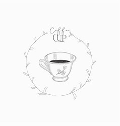 cup coffee hand drawn vector image