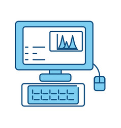 Desk computer symbol vector