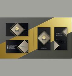 Elegant black business card template set vector