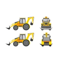 Excavator number one vector image