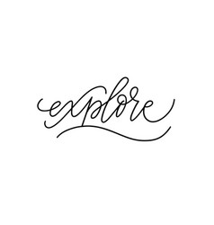 explore modern pen calligraphy travel word vector image