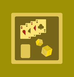 Flat icon on stylish background poker board card vector