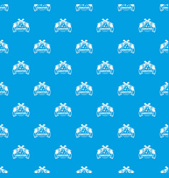 gangsters pattern seamless blue vector image